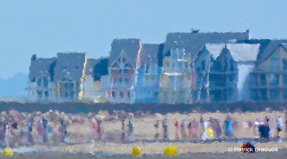 la plage et la Marina de Deauville