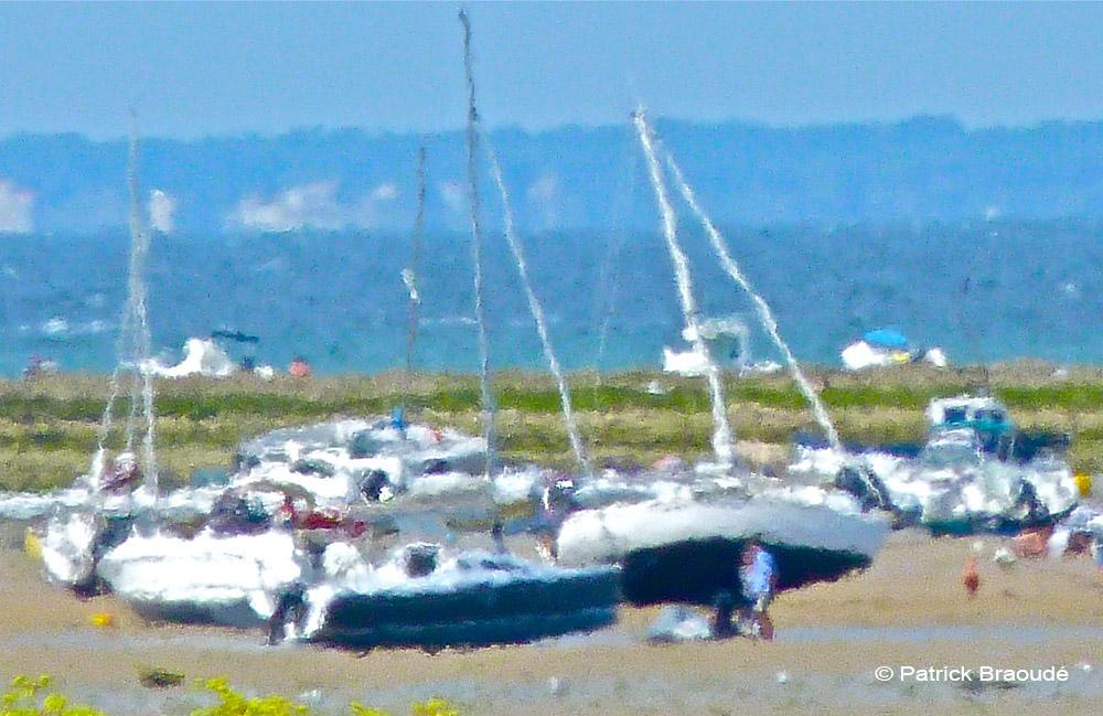 Marée basse à Loix